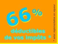 66 % déductibles de vos impôts